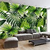 WZYMNBZ Plantes Fraîches De La Forêt De Pluie Moderne Feuilles De Bananier Peintures Murales Pastorales Salon Chambre 3D Paysage Toile De Fond Papier Peint Home Decor