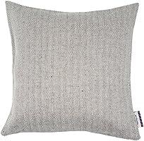 Tom tailor 564068 t-tiny zigzag housse de coussin 40 x 40 cm, mélange de lin naturel