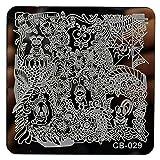 Watopi Modèle de bricolage Nail Art Stamp Stamp estampage des plaques Modèle de manucure