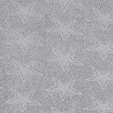 Fabulous Fabrics Frotteé Stretch Sterne - grau - Meterware