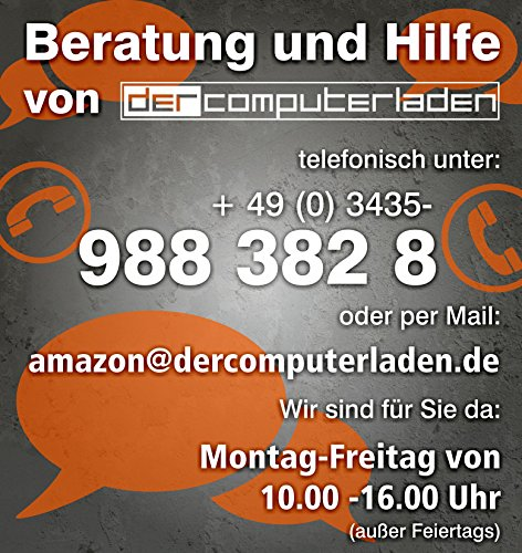 dercomputerladen Office PC System Intel, i5-6500 4×3,2 GHz, 8GB RAM, 2000GB HDD, nVidia GT730 -2GB, inkl. Windows 10 (inkl. Installation) Computer Büro Multimedia - 3
