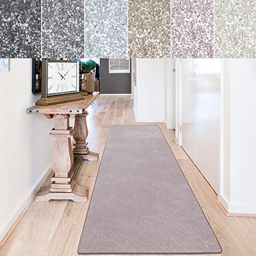 casa pura Teppich Läufer Sundae | Meterware | Teppichläufer für Wohnzimmer, Flur, Küche usw. | kuschlig weich | mit Stufenmatten kombinierbar (Rosé - 66x700 cm)