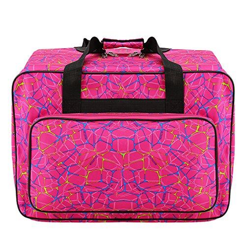 Nähmaschine Tasche Nähmaschinentasche Nähmaschinen Tragetasche Universal Groß Rosa
