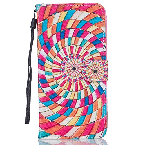 iPhone 6S Plus Hülle,iPhone 6 Plus Case,iPhone 6S Plus Cover - Felfy PU Ledertasche Strap Flip Standfunktion Magnetverschluss Luxe Bookstyle Ledertasche Nette Retro Mode Painted Muster Abdeckung Schut Farbe wirbeln