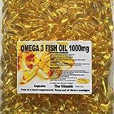 "The Vitamin Omega-3 Fish Oil 1000mg 365 Capsules - 1 per Day""Free Postage"""