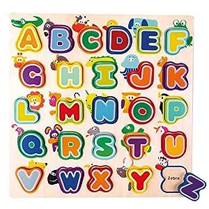 Mertens- Alfabeto con Animales, Inglés, Color carbón (70252)