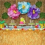 FEPITO 40 STÜCKE Künstliche Tropische Blätter Grüne Palme Monstera Blätter für Luau Hawaiian Party Dekorationen, Safari Dschungel Strand Tropical Party Dekorationen Liefert (2 Arten) - 5