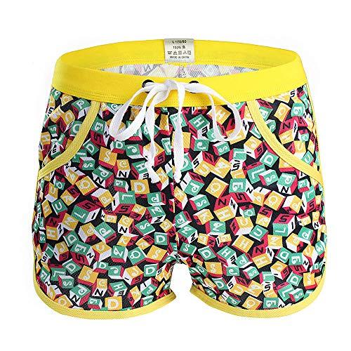 Celucke uomo boxer da bagno estate stampa pantaloni sportivi beachwear surf pantaloncini a piastre swimming