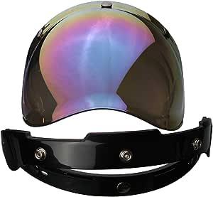 Alamor 3 Snap Bubble Shield Visier Rainbow Color Linse Für Biltwell Gringo Bonanza Helm Küche Haushalt
