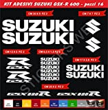 Aufkleber stickers SUZUKI GSX-R GSXR 600 moto decal bike-Motorrad- Cod. 0643 (Bianco cod. 010)