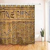 ZHANGFAN Tenda da Doccia Geroglifici egiziani in Set tempiale Tenda da Doccia in Tessuto Tenda da Doccia Impermeabile Arte Decorativa Protezione dell'ambiente 180x180cm