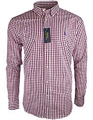 Carreaux Polo Ralph Lauren T-Shirt à Manches Longues pour Homme Coupe Slim Taille S M L XL XXL