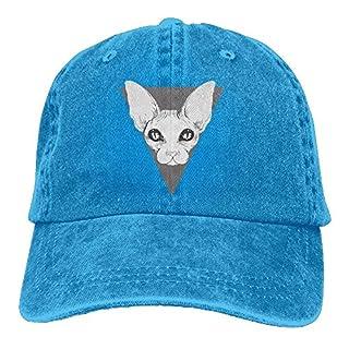 Aoliaoyudonggha Sphynx Adult Denim Hat for Boy Women Unisex,Mens Female's Sun Hat