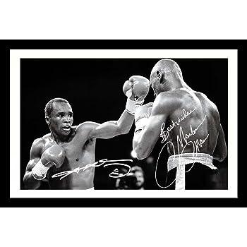 Sugar Ray Leonard /& Marvin Hagler Signed Autographed A4 Photo Print Poster