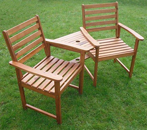 Hartholz Begleiter Sitz Ascot Ecke Love Sitz Gartenbank Tete Tete Set Jack und Jill ausschließlich von Ihre Preis Möbel