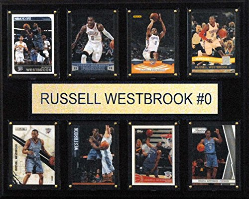 C & I Collectables NBA Oklahoma City Thunder Russell Westbrook (gefaltet Plaque, 12 x 15 Zoll - Flag-wall Plaque