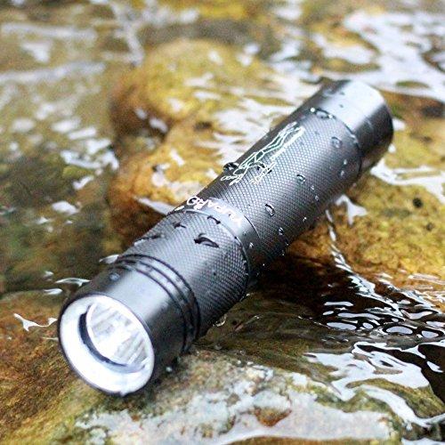 Flashlighx LED Torch Étanche Lampe de Poche Super Lumineux 1000 Lumens LED Mini Torche Plongée Sous-Marine 40 M 3-Modes De Poche Lumière pour À L'intérieur Extérieur Camping Randonnée Cyclisme D'urgence Utilisation