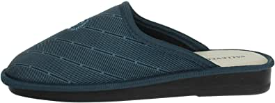 Valleverde 37806 Uomo Ciabatte pianelle Pantofole Panno Blu