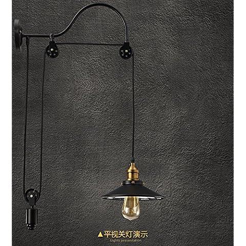 KMDJ Stile americano parete lampada creativo Loft bar e ristorante corridoio parete Cafe terrazza corridoio della ruota di ferro antico