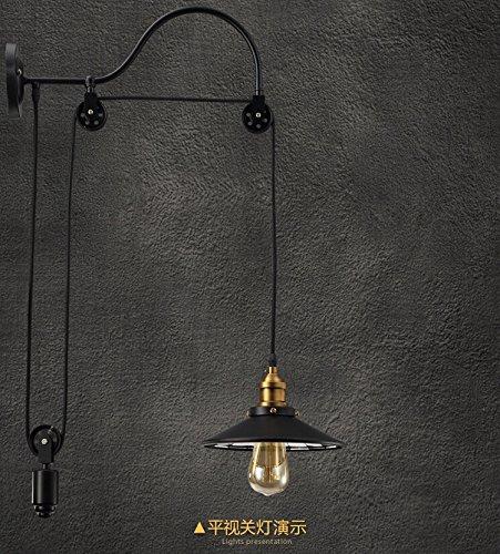 CNMKLM Stile americano parete lampada creativo Loft bar e ristorante corridoio parete Cafe terrazza corridoio della ruota di ferro antico