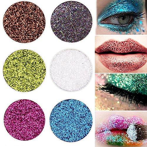 Fanxing Women Beauty Makeup Lash Shining Glitter Highlight Diamond Lip Powder Eye Shadow Press Powder