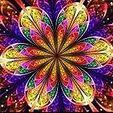 Riou DIY 5D Diamant Painting Voll,Stickerei Malerei Diamant Bunt Festlich Bild Muster Crystal Strass Stickerei Bilder Kunst Handwerk für Home Wand Decor Gemälde Kreuzstich (Mehrfarbig, 30 * 30cm)