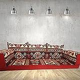 Handgefertigte Boden-Sofa-Set, arabische Majlis, arabische Jalsa, Boden Sitzcouch, Boden Kissen, orientalischen Boden Sitzgelegenheiten, Hookah Bar Möbel, Wohnzimmer Dekoration, Kelims Sofa-Set