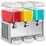 Royal Catering Distributeur à jus fontaine boissons réfrigérées (trois cuves d'une contenance totale de 54 litres, jusqu'à 12