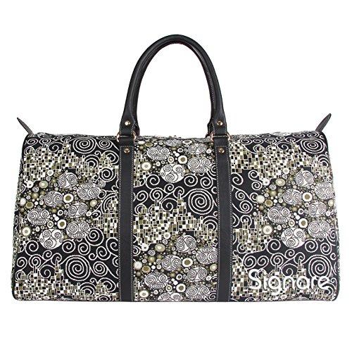 Signare grand fourre-tout bagage weekender en toile tapisserie mode femme Klimt(Le Baiser)