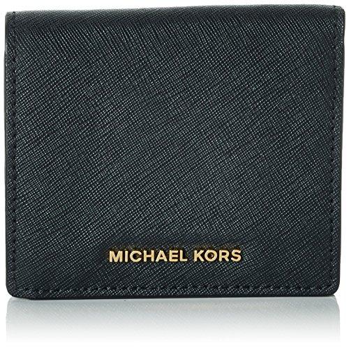 Michael Kors - Borsa Porta Documenti Donna, Colore Nero(Black 001), Taglia 11x9x2 cm (B x H x T)