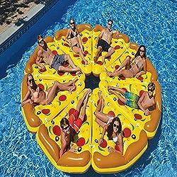 Cisne gigante piscina hinchable Ride-On Flotador nadar Ride piscina flotante balsa,Pizza MAPLE