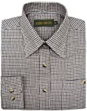 Mens Lanark Country Check Tattersall Shirt | Hunting | Fishing | Shooting - Baum Country Check Shirt - amazon.co.uk
