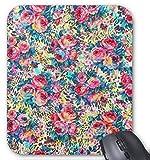 Gaming Mouse Pad Wunderschöne Vintage Rosen Blumen Aquarell Leopard Design für Desktop und Laptop 1 Packung 30x25 cm