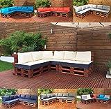 Palettenkissen Palettenauflage Sitzkissen Palettensofa Kissen Paletten Polster MH-GD01 (Sitzkissen 120x80x15 cm, Beige)