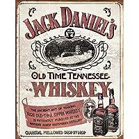 Grande Jack Daniels No7Sippin Whisky Vintage metallo targa da parete in latta 1665