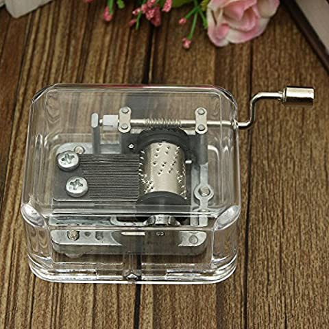 KING DO WAY Antique Mechanical Music Box Unique Gift Valentine City for Sky/Canon/For Elise Fur