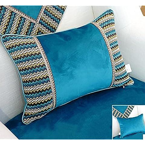 Sofá de tela con los centros de los cojines de cama caja de la almohadilla lumbar Cojín grande , 40x60cm jacket +