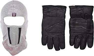 H-Store Balaclavas Mask Balaclava (Grey) Filter Anti Pollution Dust Sun Protecion Face Cover Mask With Black Winter Gloves/ Bike Gloves/ Biker Gloves/ Motorcycle/ Bike Racing/ Riding/ Gym / Fitness / Full Fingers Gloves Best Grip For Men Women