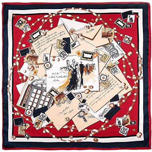 Xingling Frauen Kleines Quadrat 100% Seide Seidensatin Schal, Kleidung/Handtasche ZubehöR 52 * 52cm (11 AuswahlmöGlichkeiten),BLCE-11 (Seide Schal Handtasche)