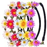 Margherita Fasce Del Fiore con Il Nastro Elastico Regolabile, Multicolore, 5 Pezzi