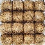 16 Pezzi Finte Pelliccia Pom Pom Palla DIY Pelliccia Pom PON per Cappelli  Scarpe Sciarpe Borsa db2864246aee