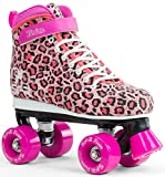 SFR Vision Canvas Rollschuhe Disco Roller Kinder rosa leopard, 37