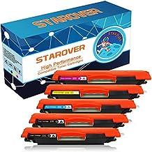STAROVER 5x 126A (CE310A CE311A CE312A CE313A) Cartuchos De Tóner De Color Compatible Para HP LaserJet Pro 100 color MFP M175 M175A M175nw / HP TopShot LaserJet Pro M275 M275NW MFP / HP LaserJet Pro CP1020 CP1025 CP1025nw / HP color LaserJet Pro MFP M176 M176FN M177 M177FW Impresora (2 Negro + 1 Cian + 1 Magenta + 1 Amarillo)