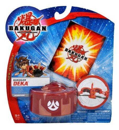 Spinmaster Bakugan Battle Brawlers New Vestroia DEKA Series Figure - Large Pyrus Red Scorpion Trap with 1 Metal Gate Card by Bakugan (Bakugan Brawlers-serie Battle)