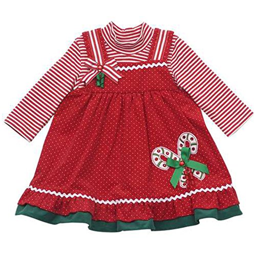 Rare Editions Kleid (Rare Editions Baby Mädchen Winter Kord Kleid + Ringel langarm Body (80))
