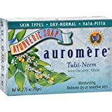 Auromere Soap-Tulsi-Neem - 2.75 Oz. - Ba...