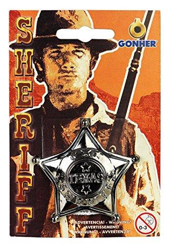 Gonher gonher15/0Kunststoff Sheriff Stern Badge, Silber -