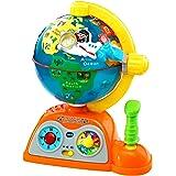 VTech - Globo multiaventuras, infantil interactivo que enseña geografía, continentes, océanos y monumentos, idiomas, animales