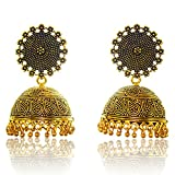 Jewelskaro Antique Jhumkas designs Gold ...