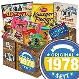 Original seit 1978 | DDR Schokolade Geschenkkorb | Schokolade Geschenkset M | Maulwurf Ei, Kalter Hund, Mokka Bohnen | Geburtstagsgeschenke zum 40 Geschenke 40 Geburtstag Frau Schokoladenbox Geschenk